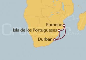 Crucero Sudáfrica, Mozambique