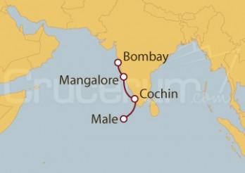 Crucero India, Maldivas
