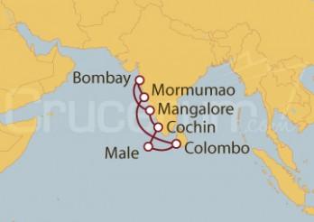 Crucero India, Maldivas, Sri Lanka