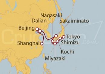 Crucero Shangai (china) a Tokio (Japón)