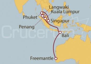 Crucero Australia, Indonesia, Malasia, Tailandia, Singapur