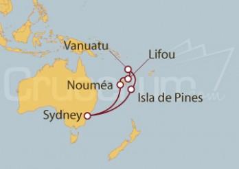 Crucero Sydney (Australia), Nueva Caledonia, Vanuatu, Australia