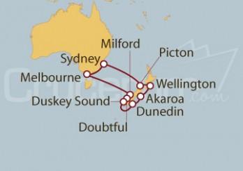 Crucero Australia y Nueva Zelanda