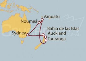 Crucero Australia, Nueva Caledonia, Vanuatu, Nueva Zelanda