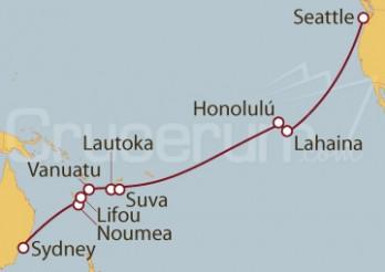 Crucero Australia, Nueva Caledonia, Vanuatu, Fidji, Hawái, EEUU