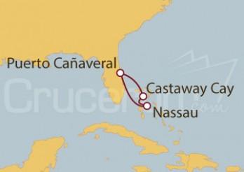 Crucero Puerto Cañaveral (Florida) y Nassau (Bahamas)