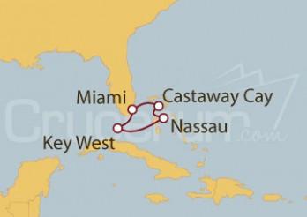 Crucero Miami (EE UU), Bahamas y Castaway Cay