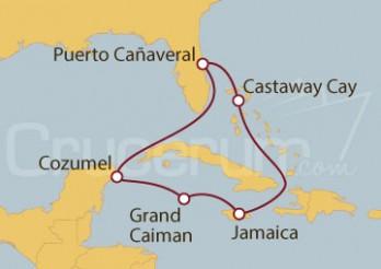 Crucero Puerto Cañaveral (Florida), México y Jamaica