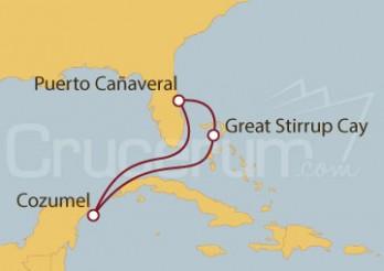 Crucero Puerto Cañaveral (Florida), México y Bahamas