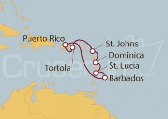 Crucero San Juan (Puerto Rico), Barbados,  Antillas e Islas Vírgenes Británicas