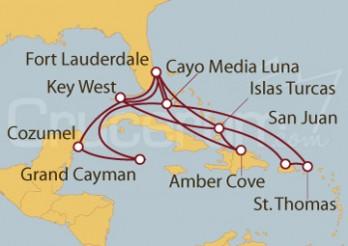 Crucero Caribe Oriental, Occidental y Tropical