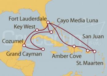 Crucero Caribe Occidental y Oriental