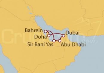 Crucero Emiratos Árabes Unidos, Bahréin, Qatar