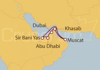 Crucero Emiratos Árabes Unidos, Omán, Bahréin, Qatar