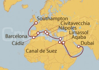 Crucero Desde Dubai (EAU) a Southampton (Londres)