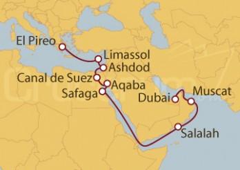 Crucero De Atenas (Grecia) a Dubai (EAU)