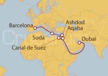 Crucero De Dubai (EAU) a Barcelona