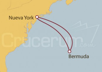 Crucero Nueva York y  Royal Naval Dockyard (Bermuda)