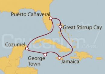 Crucero Puerto Cañaveral (Florida), Bahamas, Jamaica, Islas Caimán y México