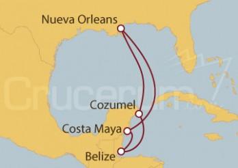 Crucero Nueva Orleans (EE.UU), Cozumel, Costa Maya (México)
