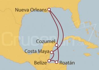 Crucero Caribe Occidental - México, Honduras y Belice