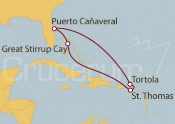 Crucero Puerto Cañaveral (Florida), Islas Vírgenes Británicas y Bahamas