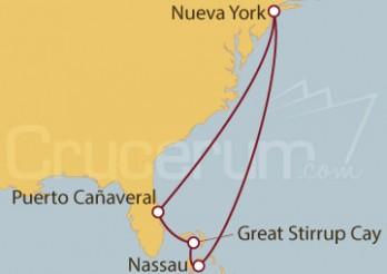 Crucero Nueva York, Florida y Bahamas
