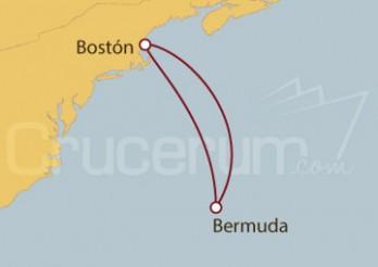 Crucero Boston (EEUU) y Royal Naval Dockyard (Bermuda)