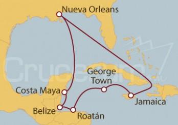 Crucero Caribe Occidental desde Nueva Orleans