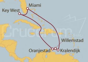 Crucero Miami (EEUU), Key West, Aruba, Curaçaora, Bonaire