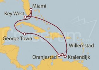 Crucero Miami (EEUU), Islas Caimán, Aruba, Curaçao, Bonaire, Key West