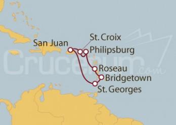 Crucero San Juan (Puerto Rico), St.Marteen, Dominica, Barbados, Granada