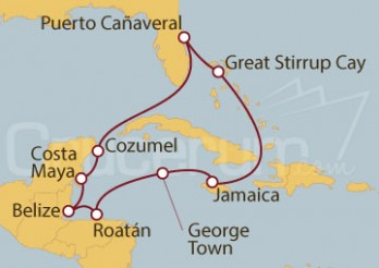 Crucero Western Caribbean - Port Canaveral (PCV/PCV)