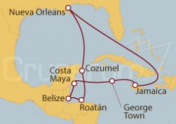 Crucero Nueva Orleans (EE.UU), Costa Maya (México), Ocho Ríos (Jamaica)