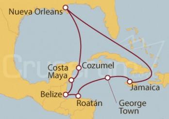 Crucero Nueva Orleans (EE.UU), George Town (Islas Caimán), Cozumel (México)