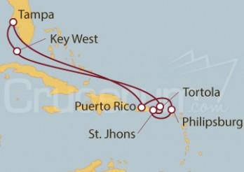 Crucero EEUU, Islas Vírgenes Británicas, Antigua y Puerto Rico