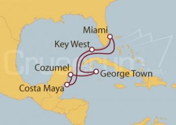 Crucero Caribe Occidental - México e Islas Caimán