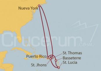 Crucero Caribe Sur desde Nueva York (EE UU)