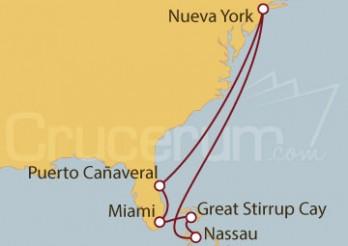 Crucero Nueva York, Florida, EEUU y Bahamas
