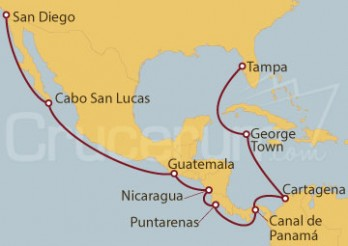 Crucero Desde San Diego (EEUU) a Tampa (Florida)