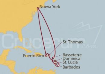Crucero Nueva York, Puerto Rico, Dominica, Barbados y Antillas