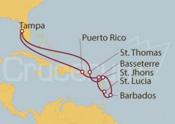 Crucero Caribe Sur desde Tampa (EE UU)