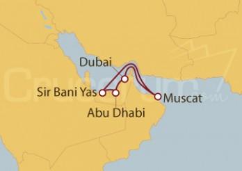 Crucero Emiratos Árabes Unidos - Dubai, Abu Dhabi, Muscat y Sir bani Yas