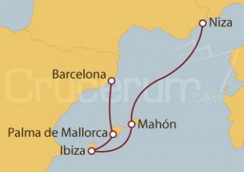 Crucero Niza (Francia), Islas Baleares y Barcelona