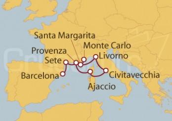 Crucero España, Francia, Italia y Monte Carlo (Mónaco)
