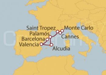 Crucero De Monte Carlo (Mónaco) a Barcelona