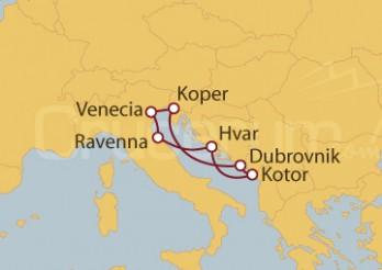 Crucero Venecia, Italia, Croacia, Montenegro, Eslovenia
