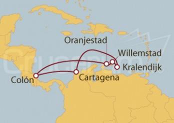 Crucero Cartagena (Colombia), Antillas Holandesas y Panamá