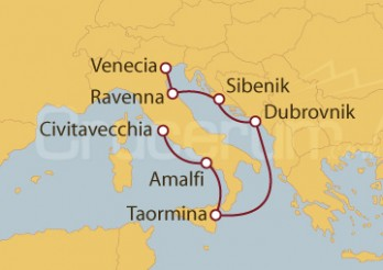Crucero Civitavecchia (Roma), Italia, Croacia, Venecia