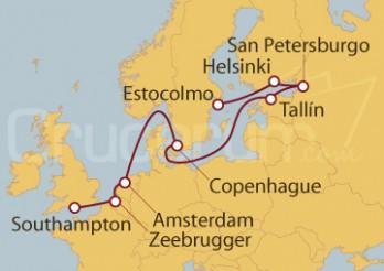 Crucero De Estocolmo (Suecia) a Southampton (UK)